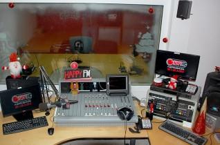 Decoración de Navidad de los Estudios de HappyFM