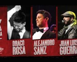 Alejandro Sanz, Juan Luis Guerra y Draco Rosa, en concierto