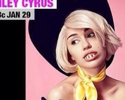 Miley Cyrus sin ropa y con dentadura postiza anuncia su próximo concierto