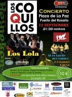 Los Coquillos en concierto en Fuerteventura