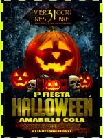 I Fiesta de Halloween Amarillo Cola