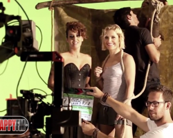Soraya y Vega en el making of del vídeo de 'El Huracán'