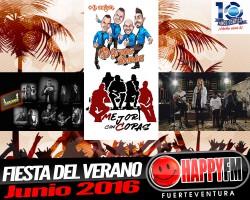 Fiesta del Verano 2016: Grupo Bomba, Amatista, Mejor con Copas, Overbooking…