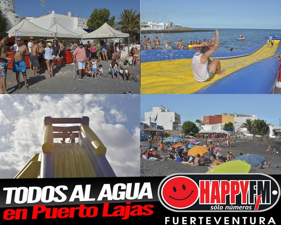 Al agua gente happy en Puerto Lajas