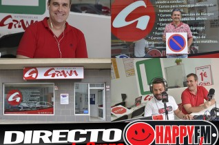 (fotos) Directo Despiértate Happy en la Autoescuela Grana