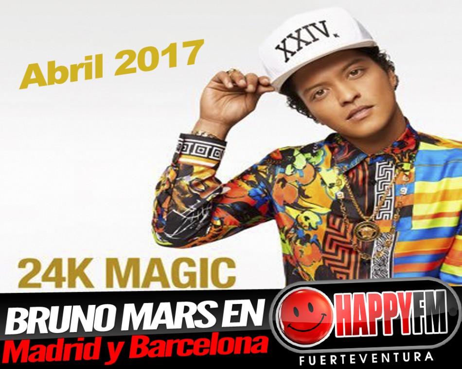 Bruno Mars en Madrid y Barcelona en 2017