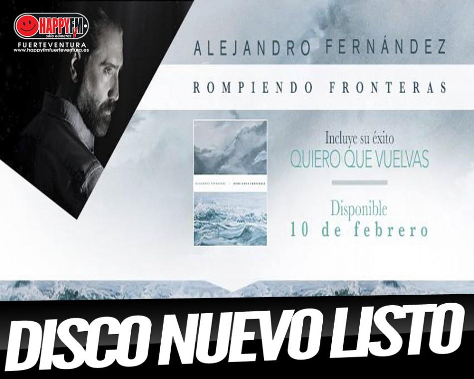 A punto el nuevo disco de Alejandro Fernández