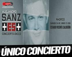 Alejandro Sanz anuncia un único concierto en 2017 en nuestro país