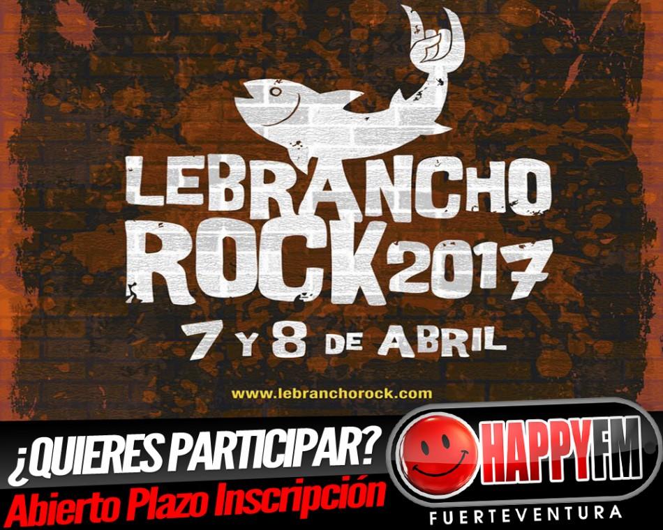 Abierto el plazo de inscripción para el Lebrancho Rock 2017