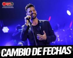 Cambio de fechas de la gira de Ricky Martin en España