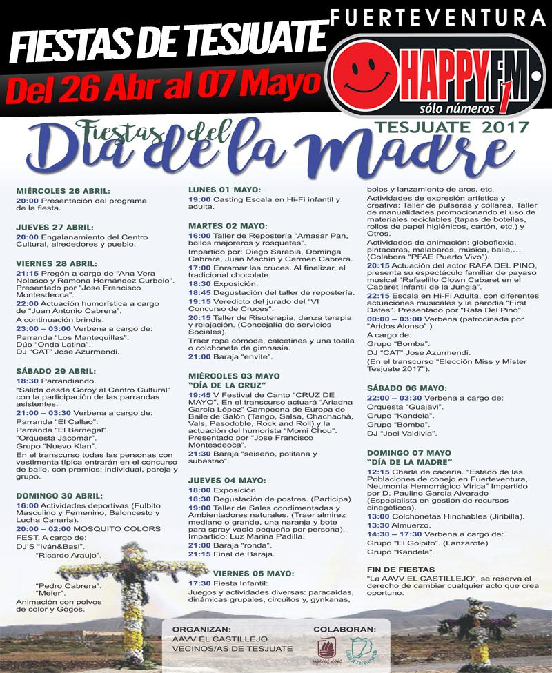 Fiestas de tesjuate del 26 de abril al 07 de mayo happy for Eventos madrid mayo 2017