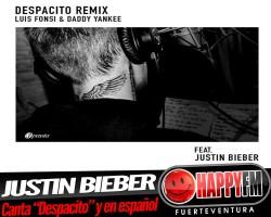 """Justin Bieber canta """"Despacito"""" y en español"""