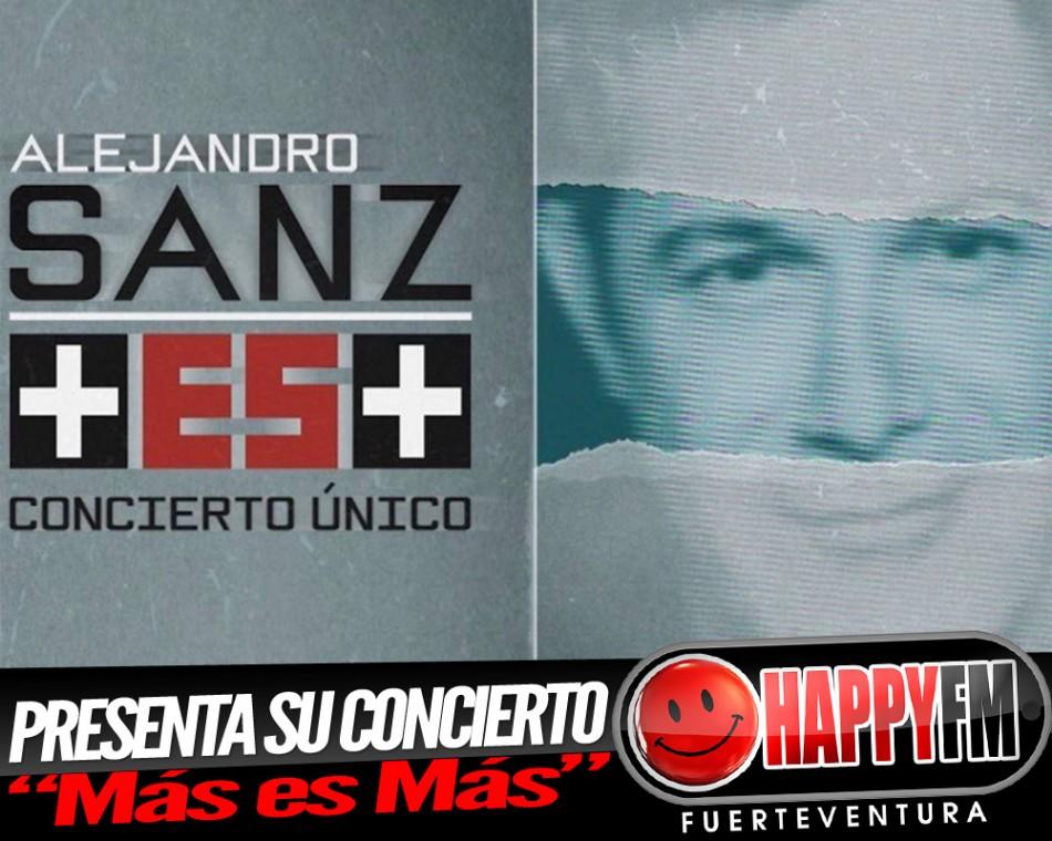 """Alejandro Sanz presenta oficialmente su concierto """"Más es Más"""""""