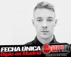 Diplo anuncia concierto en Madrid