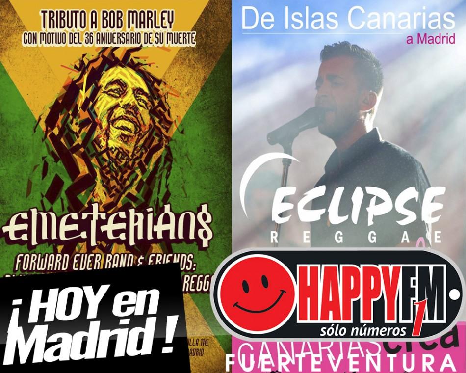 Concierto de Jonathan, de Eclipse Reggae hoy en Madrid