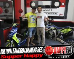 Milton Leandro Colmenares, un piloto super happy