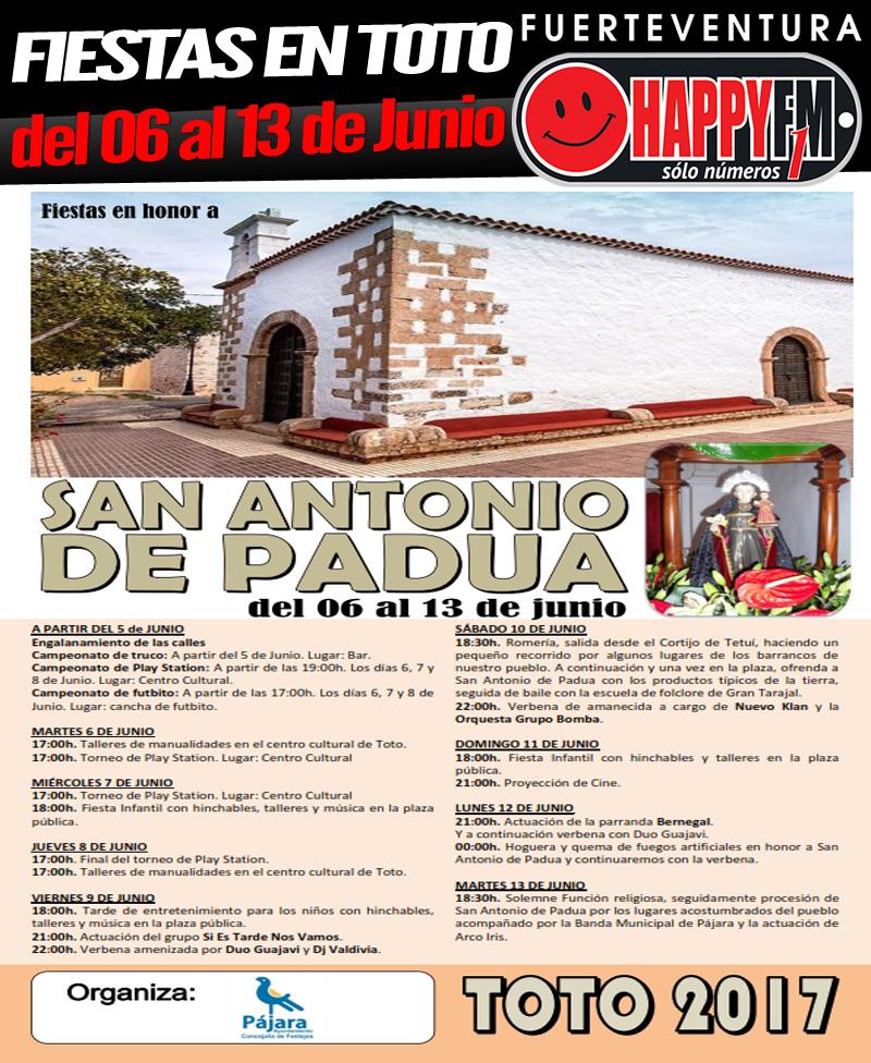 Fiestas en Honor a San Antonio de Padua en Toto (del 06 al