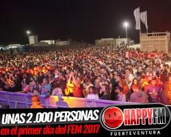 (fotos) Unas 2.000 personas en la primera jornada del Fuerteventura En Música 2017