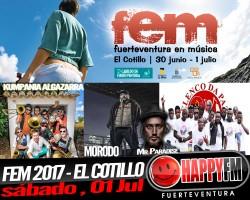 Kumpania Algazarra, Morodo & Okoumé Lions, Elenco Da Paz y Mr. Paradise en el FEM 2017 – sábado, 01 de Julio