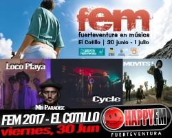 Loco Playa, Movits! y Cycle en el FEM 2017 – viernes, 30 de Junio