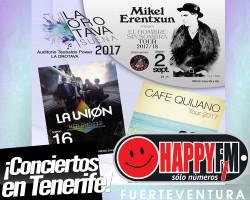 Café Quijano, Mikel Erentxun y La Unión de concierto en Tenerife