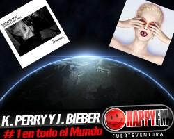 Katy Perry y Justin Bieber números uno a nivel internacional