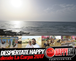 (fotos) Directo Despiértate Happy desde la carpa de windsurf 2017