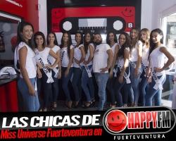 Hoy las candidatas a Miss Universe Spain Fuerteventura en los estudios de Happy FM Fuerteventura