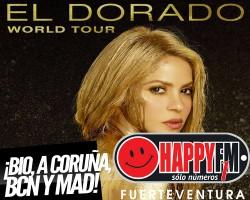 Conciertos de Shakira en Bilbao, A Coruña, Madrid y Barcelona