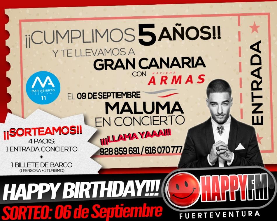 ¿Quieres ganar una entrada para el concierto de Maluma en Gran Canaria?