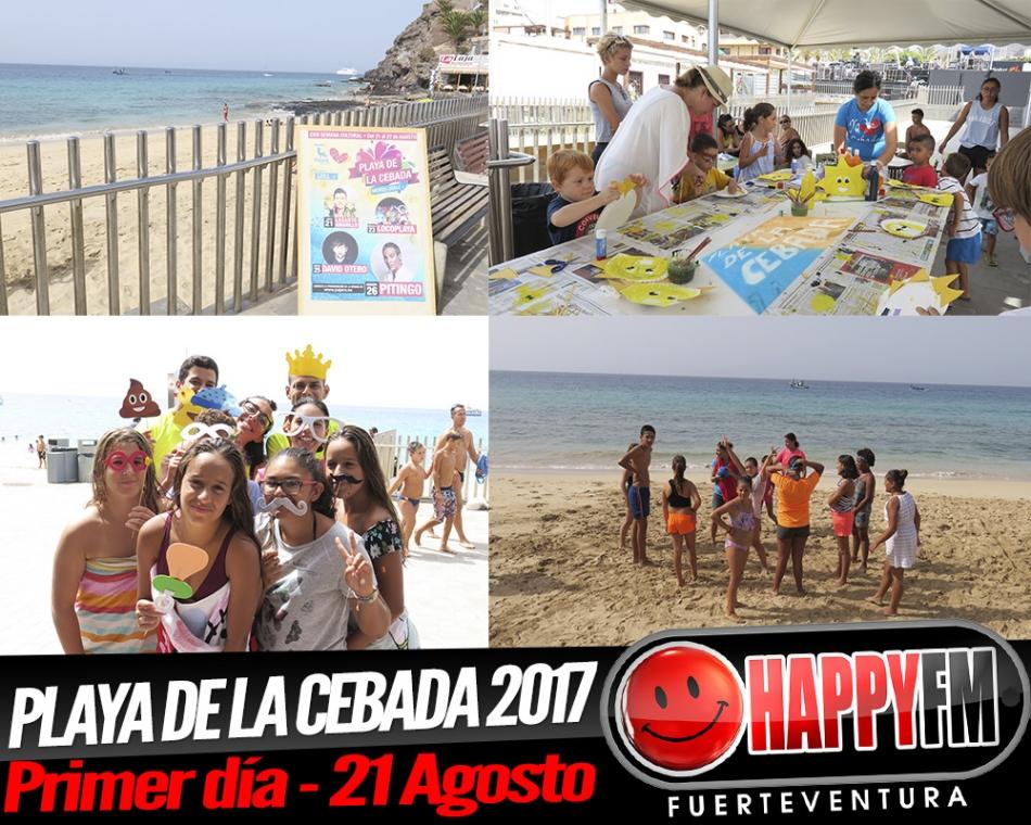 Primer día de la Semana Cultural Playa de la Cebada 2017 – 21 Agosto