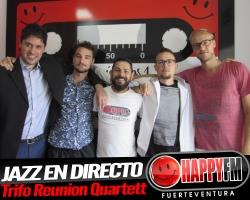 Jazz en directo en los estudios de Happy FM Fuerteventura con Trifo Reunion Quartett