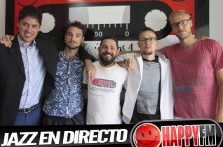 (fotos) Jazz en directo en los estudios de Happy FM Fuerteventura con Trifo Reunion Quartett