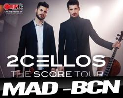 2 Cellos anuncian conciertos en Madrid y Barcelona