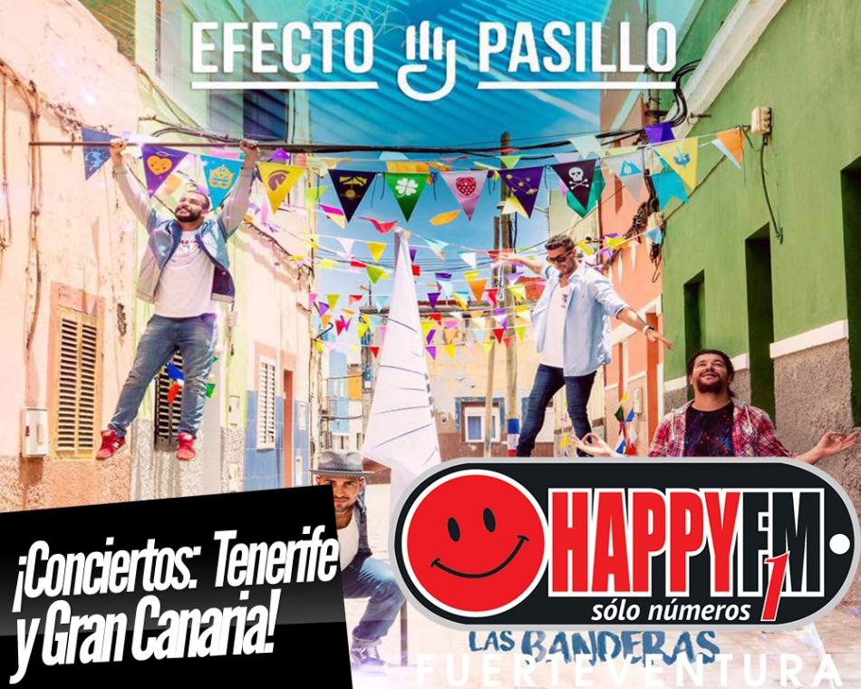 Conciertos de Efecto Pasillo en Gran Canaria y Tenerife