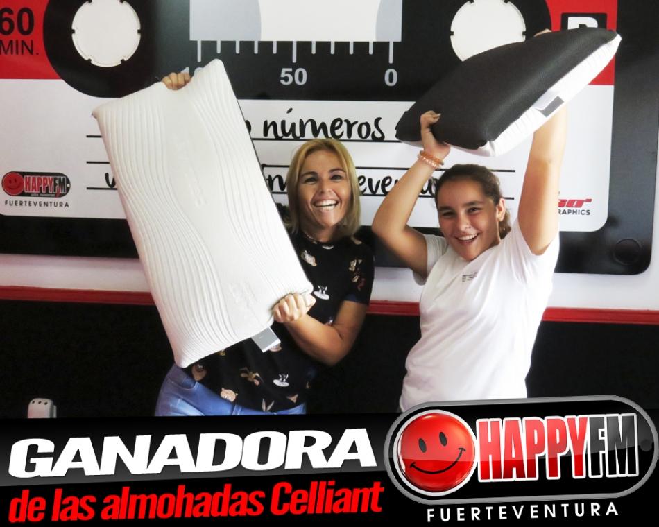 Ailín es la ganadora de las dos almohadas Celliant gracias a Colchón Inteligente