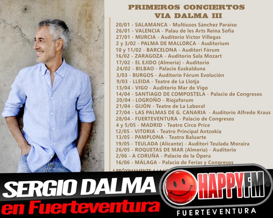 Sergio Dalma de concierto en Fuerteventura en 2018