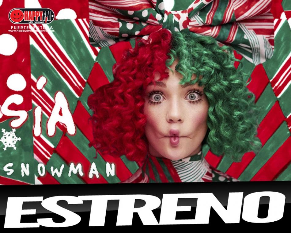 "Sia estrena ""Snowman"""