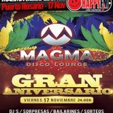 Fiesta Primer Aniversario en Magma Disco Lounge