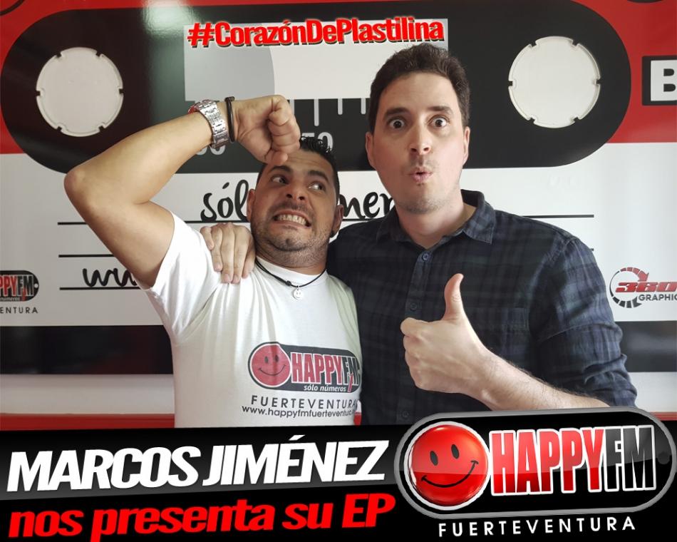 """Hoy Marcos Jiménez en los estudios de Happy FM Fuerteventura con su """"Corazón De Plastilina"""""""