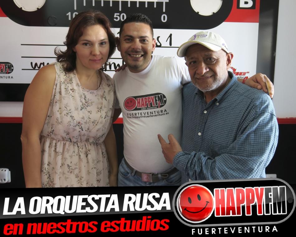 La Orquesta Rusa llega a los estudios de Happy FM Fuerteventura