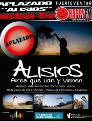 """APLAZADO – """"Alisios""""…La Música del Viento…Espectáculo de música, voz y escenografía"""