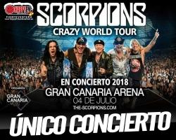 Único concierto de Scorpions en Gran Canaria