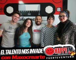 Los estudios de Happy FM Fuerteventura se llenan de talento con los chicos de la Escuela Maxocrearte
