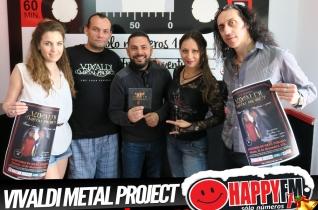 (fotos) Entrevista a Vivaldi Project Metal en Happy FM  Fuerteventura