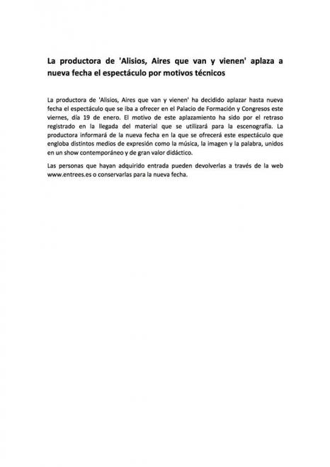 nota prensa alisios