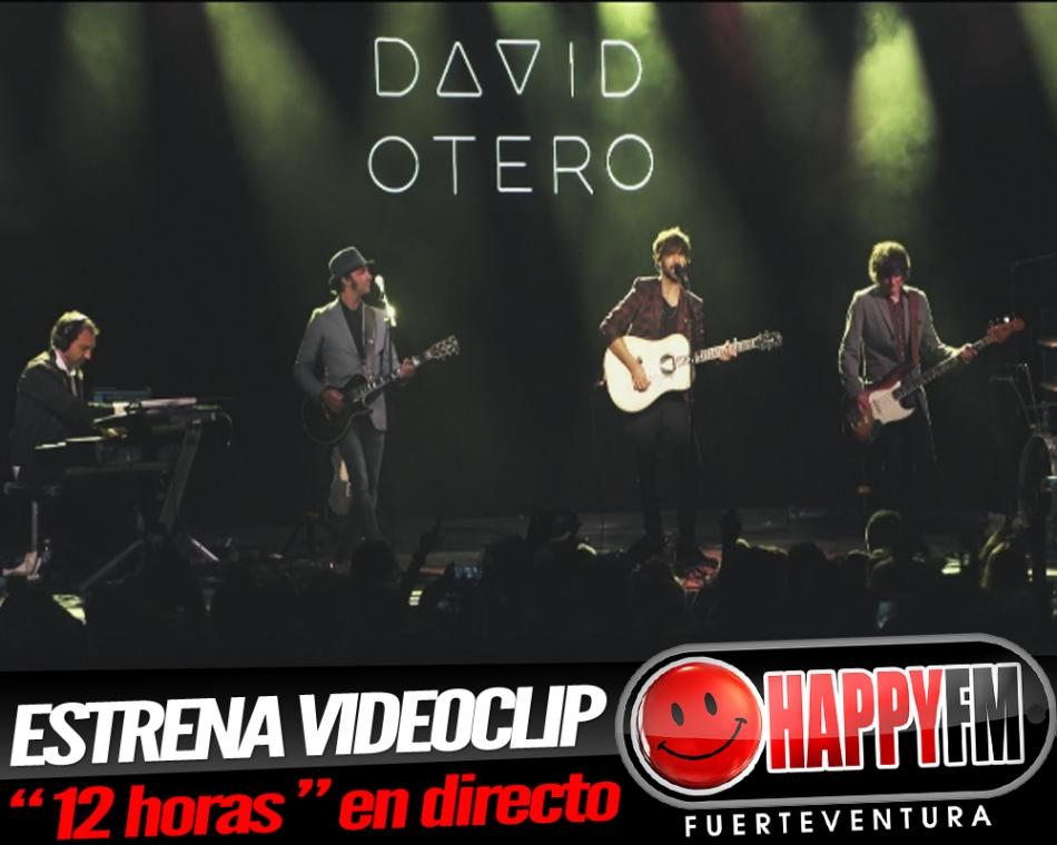 """David Otero estrena el videoclip para """"12 horas"""" en directo"""