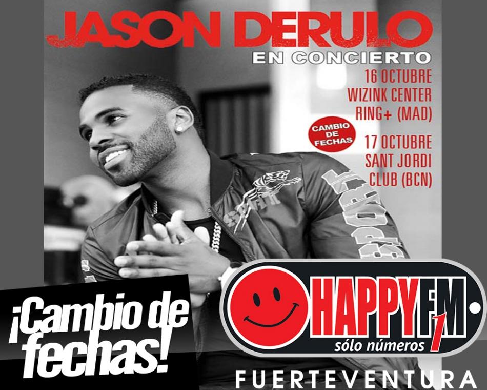 Jason Derulo aplaza sus conciertos en España hasta Octubre
