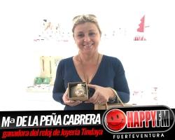 Maria de la Peña Cabrera es la ganadora del reloj gracias a la Joyería Tindaya