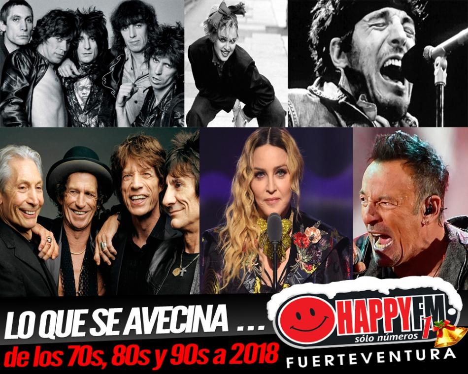 Bruce Springsteen, Madonna y The Rolling Stones estrenarán disco en 2018